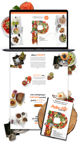 Paleo Diet Niche Weebly Website Business For Sale - 1PEZ Design a Website